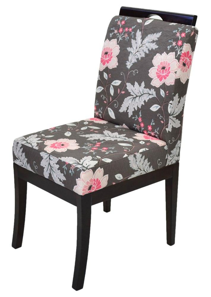 cadeira floral cinza