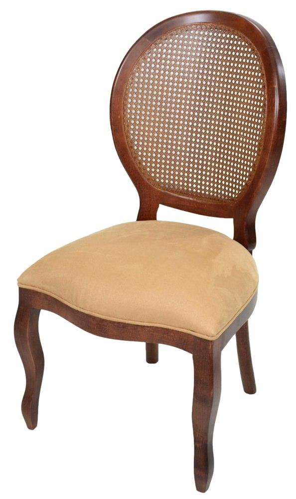 cadeira medalhao lisa com tela